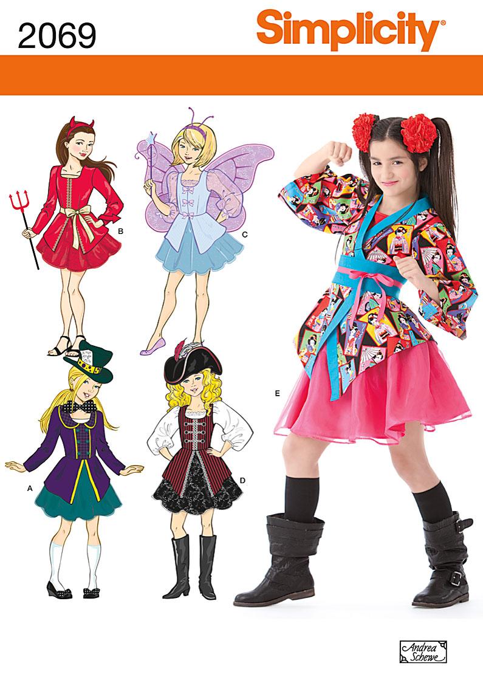 Simplicity Girl's Costume 2069