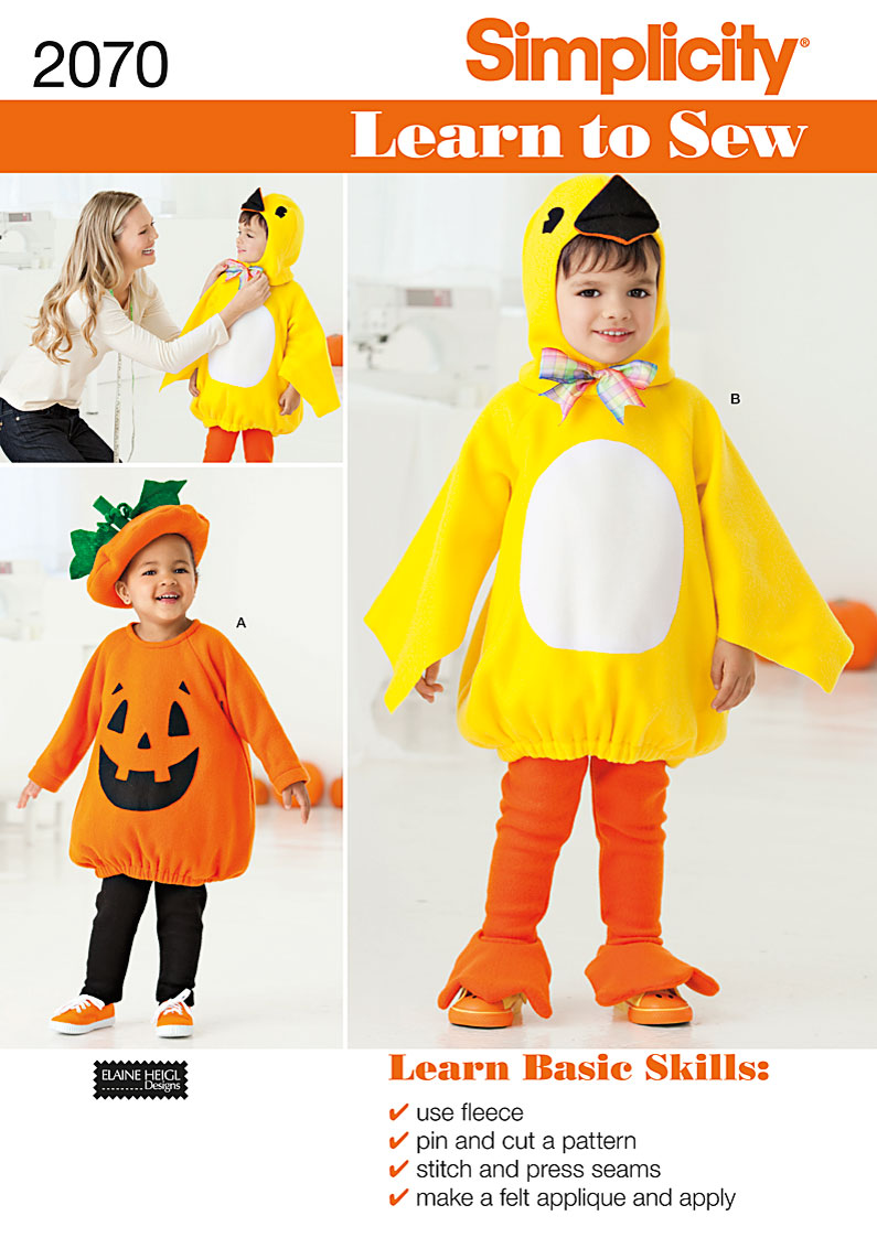 Simplicity Toddler's Costume 2070