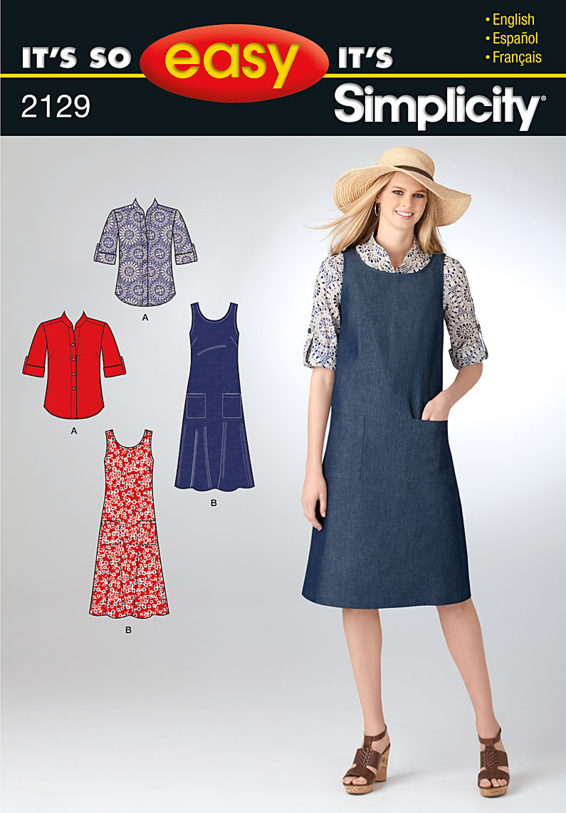 Simplicity Misses jumper and skirt 2129