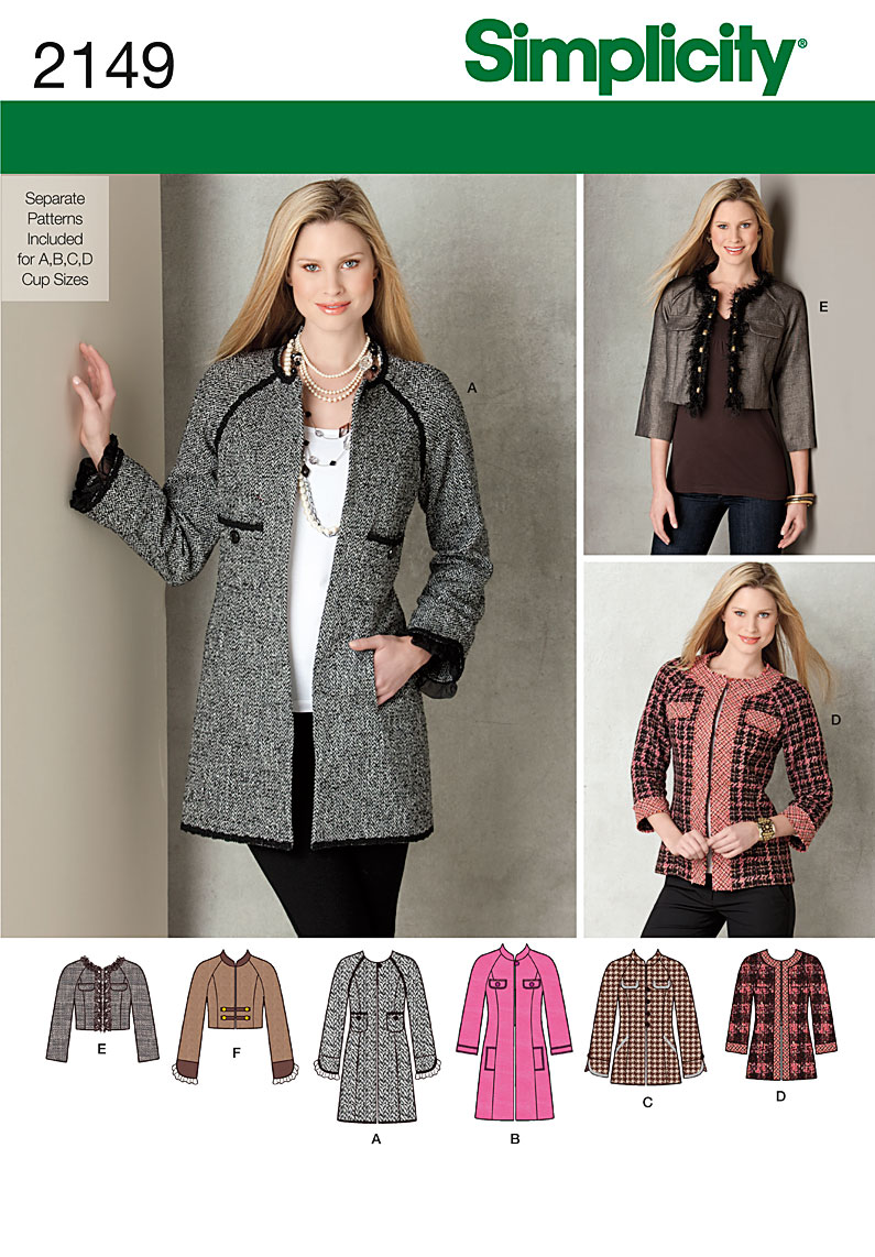 Simplicity Misses Jackets 2149