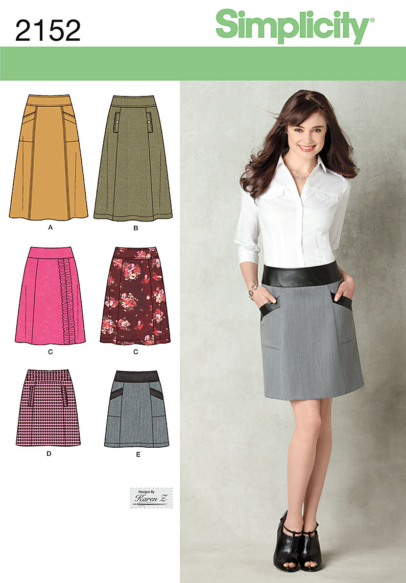 Simplicity Misses Skirt 2152