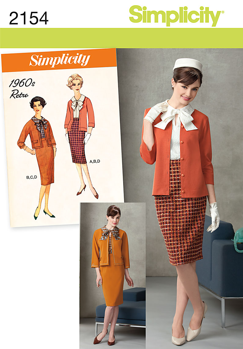 Simplicity Misses/Petite Blouse, Skirt, Jacket and Cardigan 2154