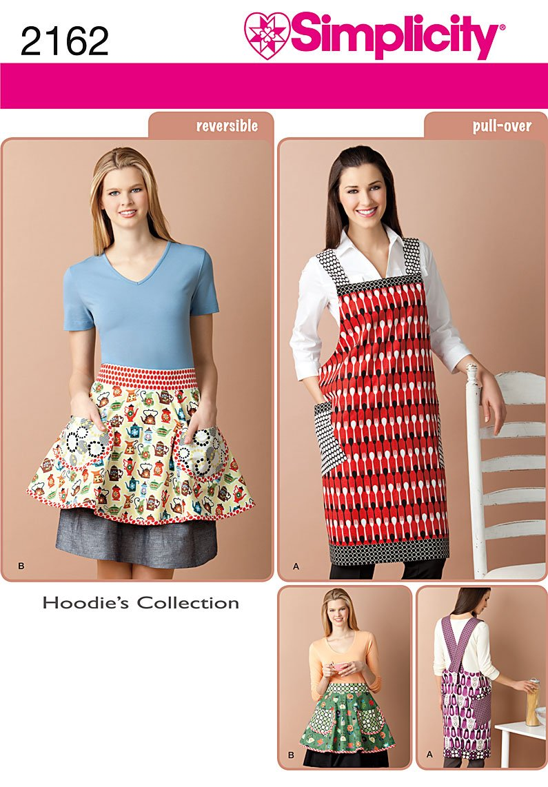 Simplicity Misses Apron and Reversible Apron 2162
