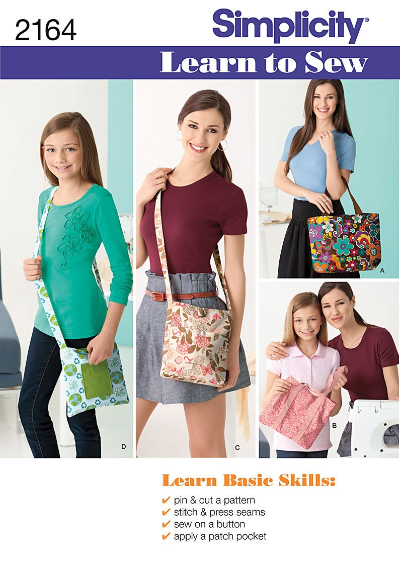 Simplicity Learn to Sew Bags 2164