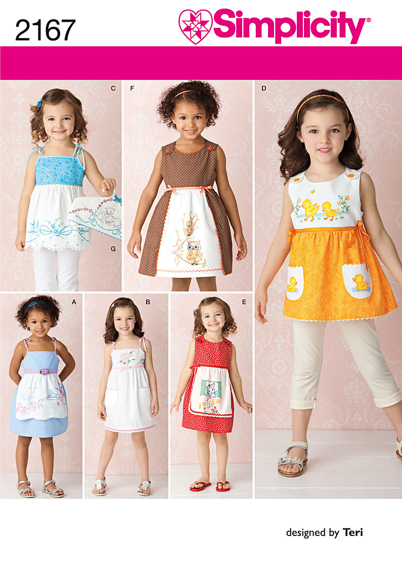 Simplicity childs dresses and hanger cover 2167