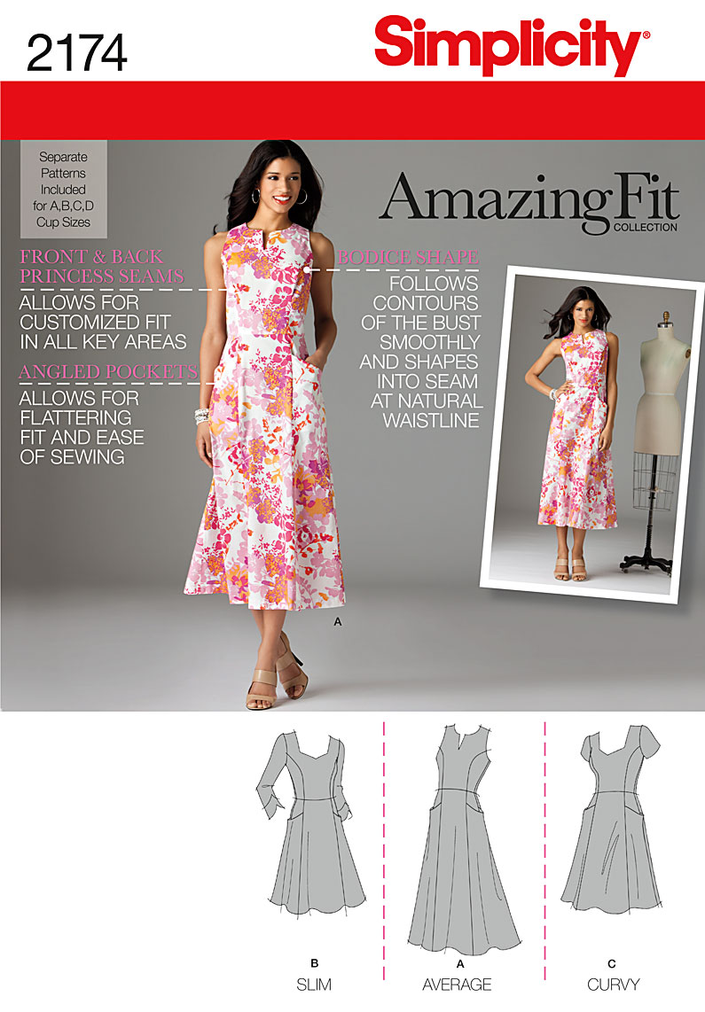 Simplicity Misses' & Miss Petite Amazing Fit Dresses 2174
