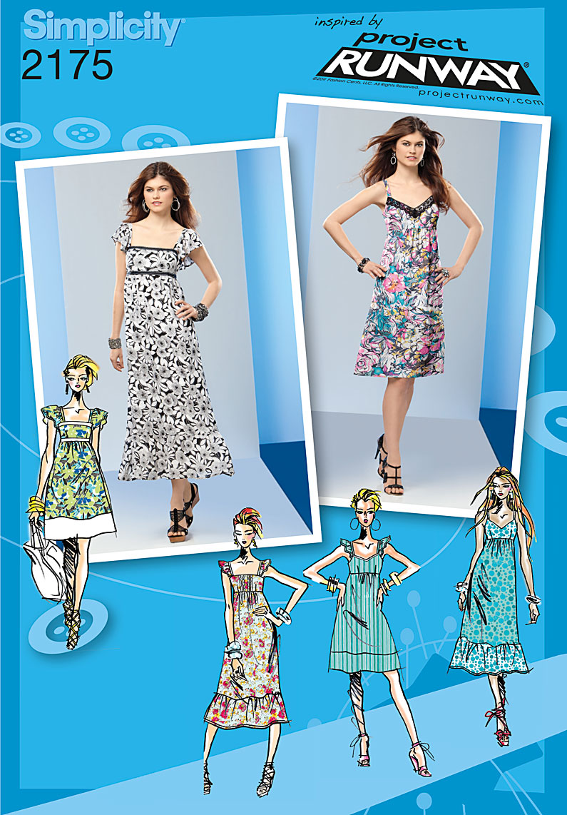 Simplicity Misses' & Miss Petite Dresses. Project Runway Collection 2175