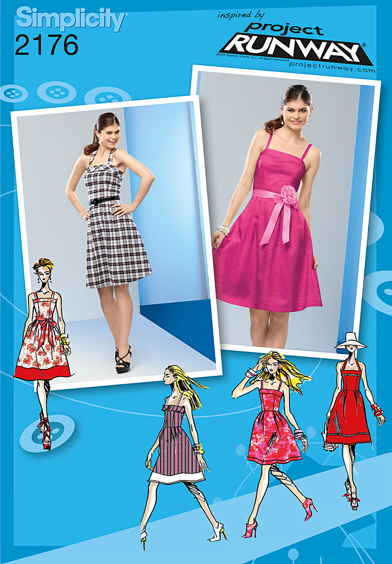 Simplicity Misses' & Miss Petite Dresses. Project Runway Collection 2176