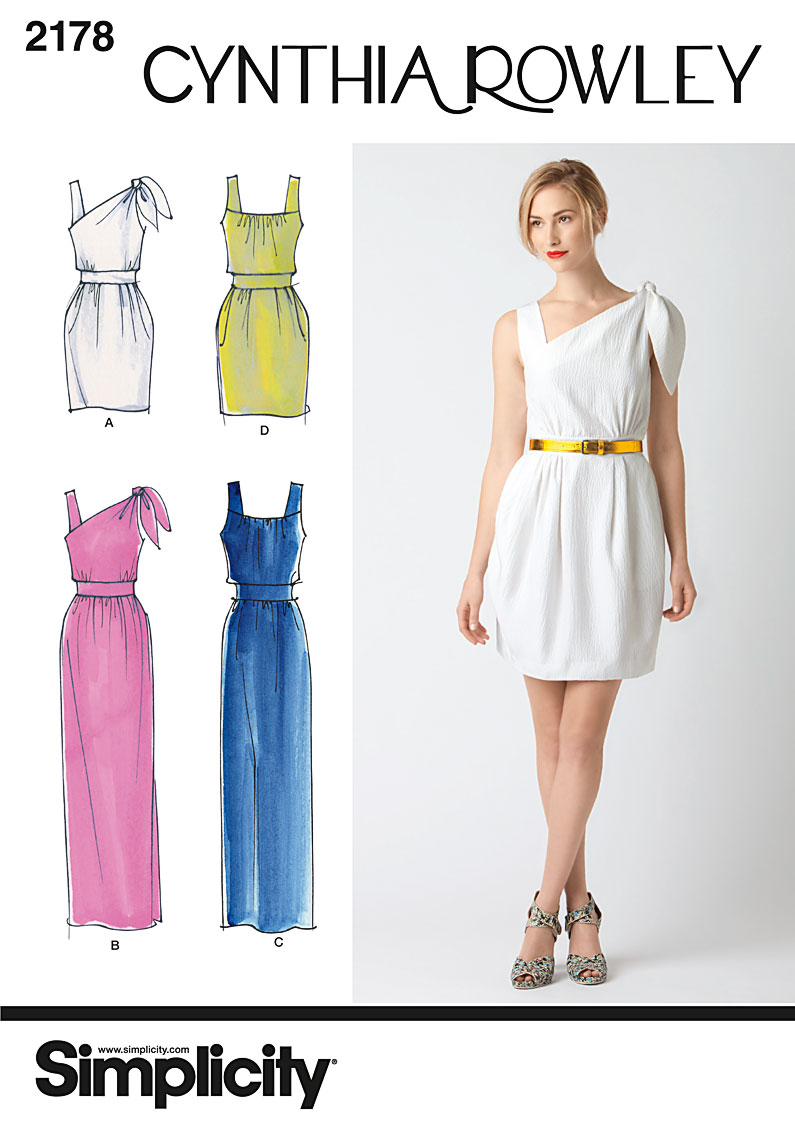 Simplicity Misses' Dresses. Cynthia Rowley Collection 2178