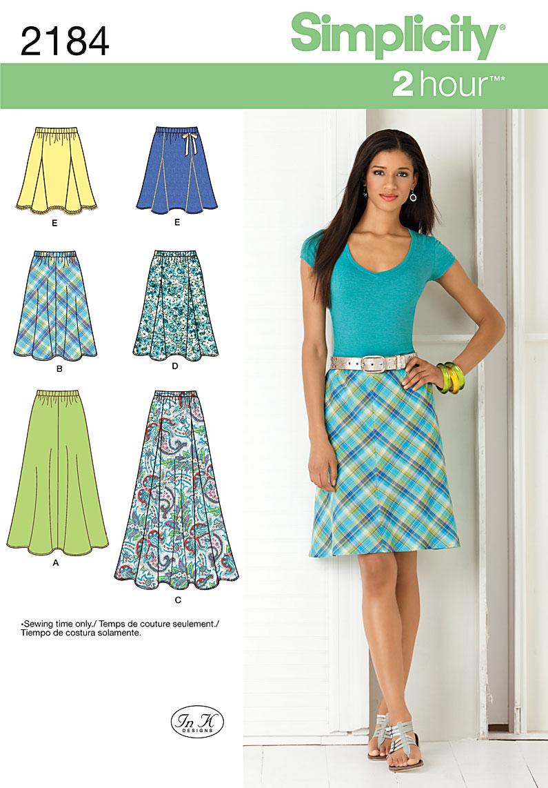 Simplicity Misses' Skirts 2184