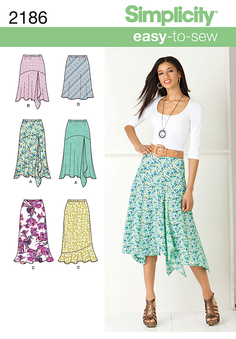 Simplicity Misses' Skirts 2186