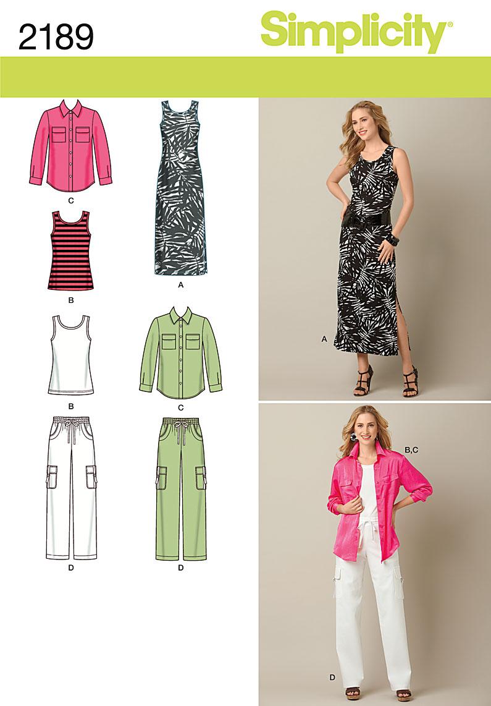 Simplicity Misses' & Plus Size Sportswear 2189