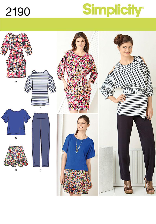 Simplicity Misses' Sportswear 2190