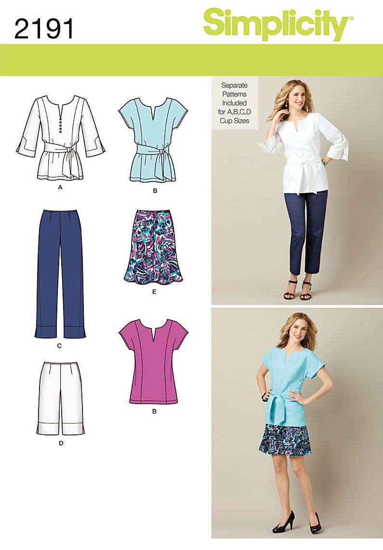 Simplicity Misses' & Miss Petite Sportswear 2191
