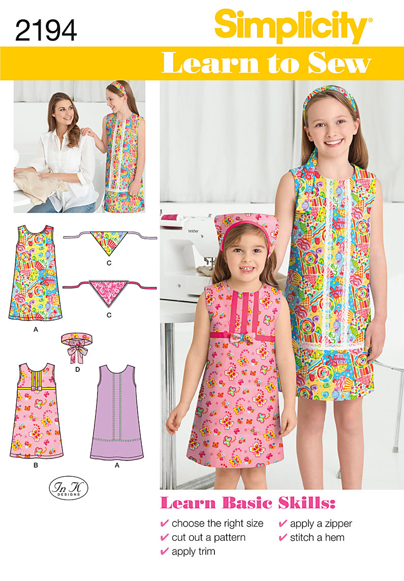 Simplicity Learn to Sew Children's & Girls' Dresses 2194