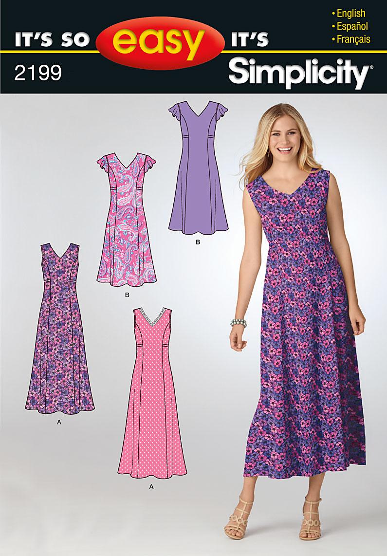 Simplicity misses dress 2199