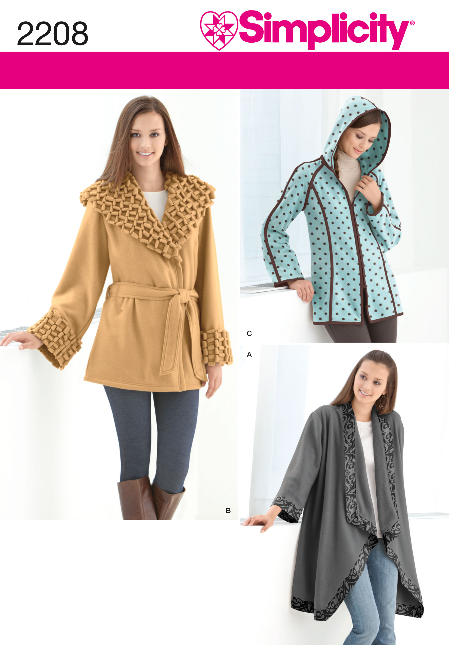 Simplicity Misses' Fleece Jackets 2208