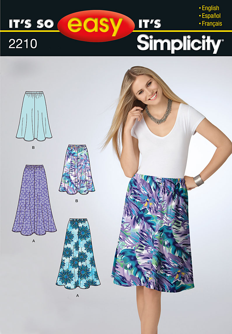Simplicity It's So Easy Misses' Skirts 2210