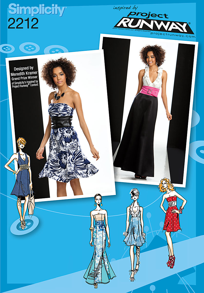 Simplicity Misses' Dresses. Project Runway Collection 2212
