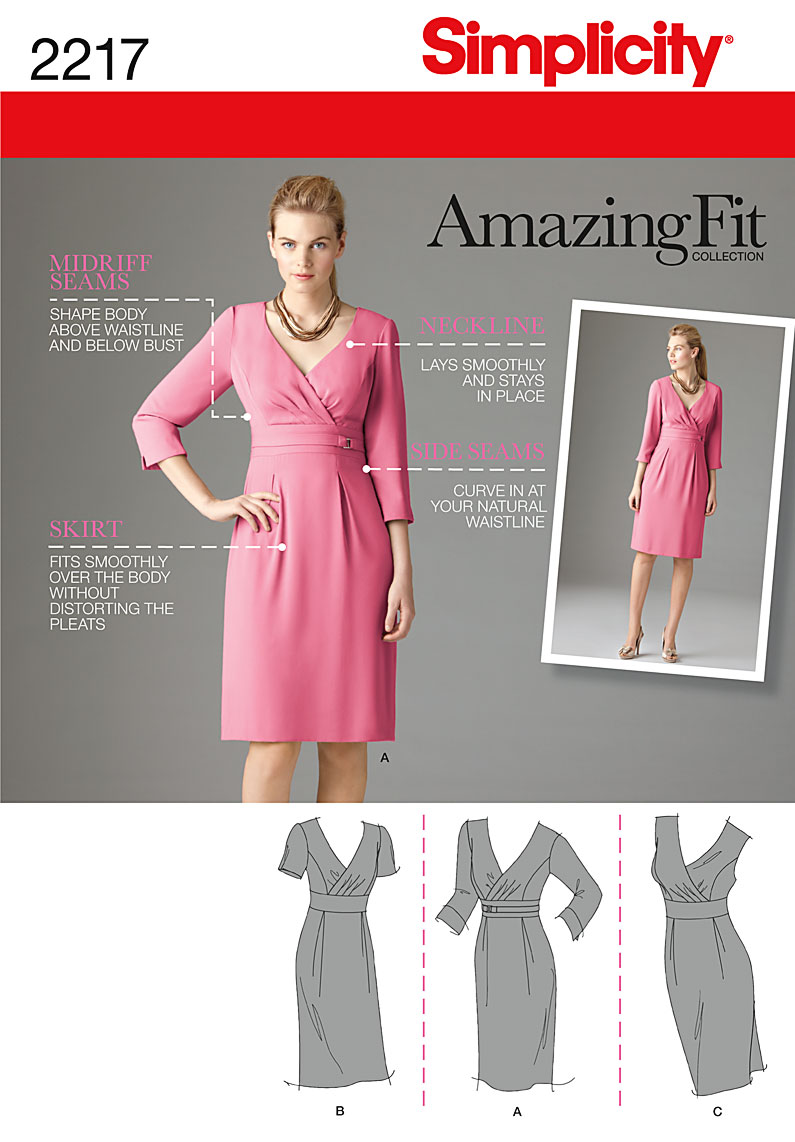 Simplicity Misses' Amazing Fit Dresses 2217