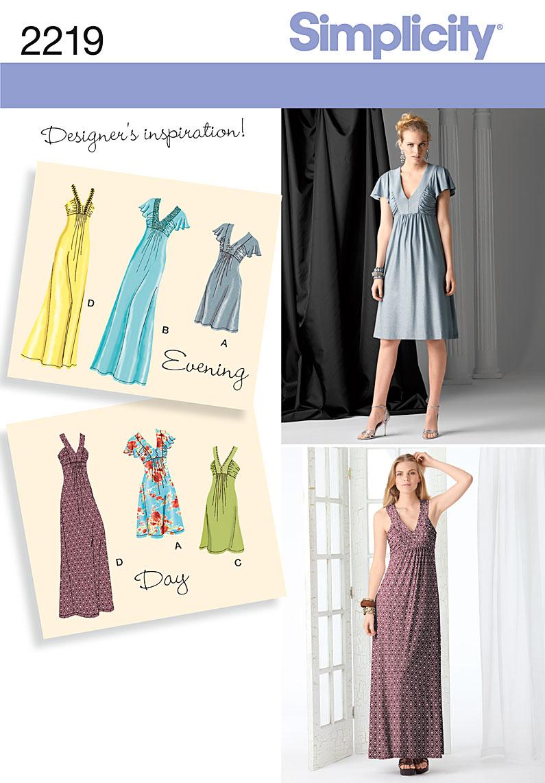 Simplicity Misses' Evening Dresses 2219