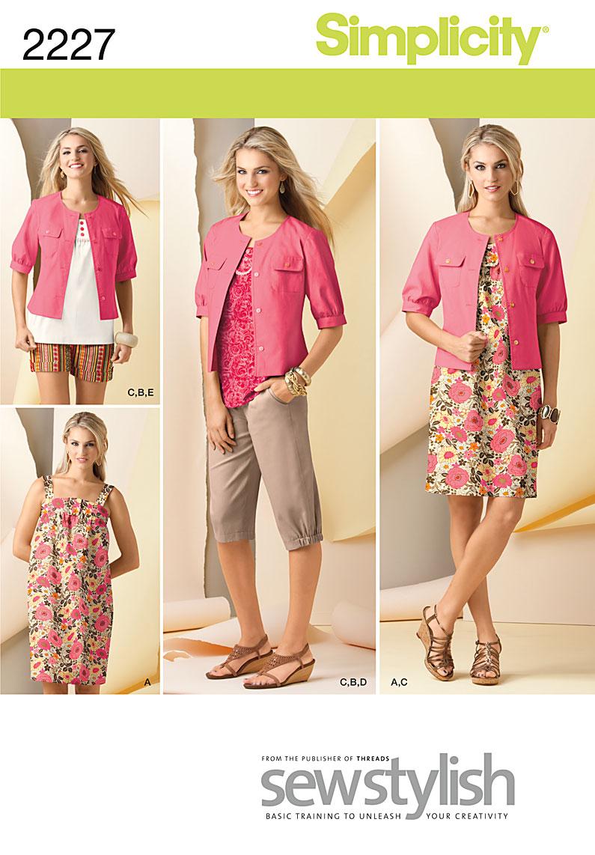 Simplicity Misses' Sportswear 2227