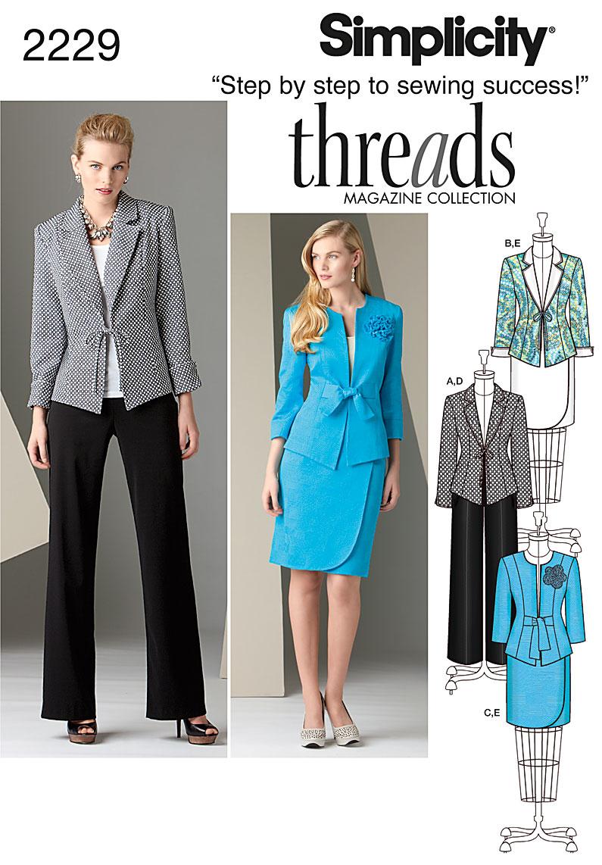 Simplicity Misses' & Plus Size Sportswear 2229