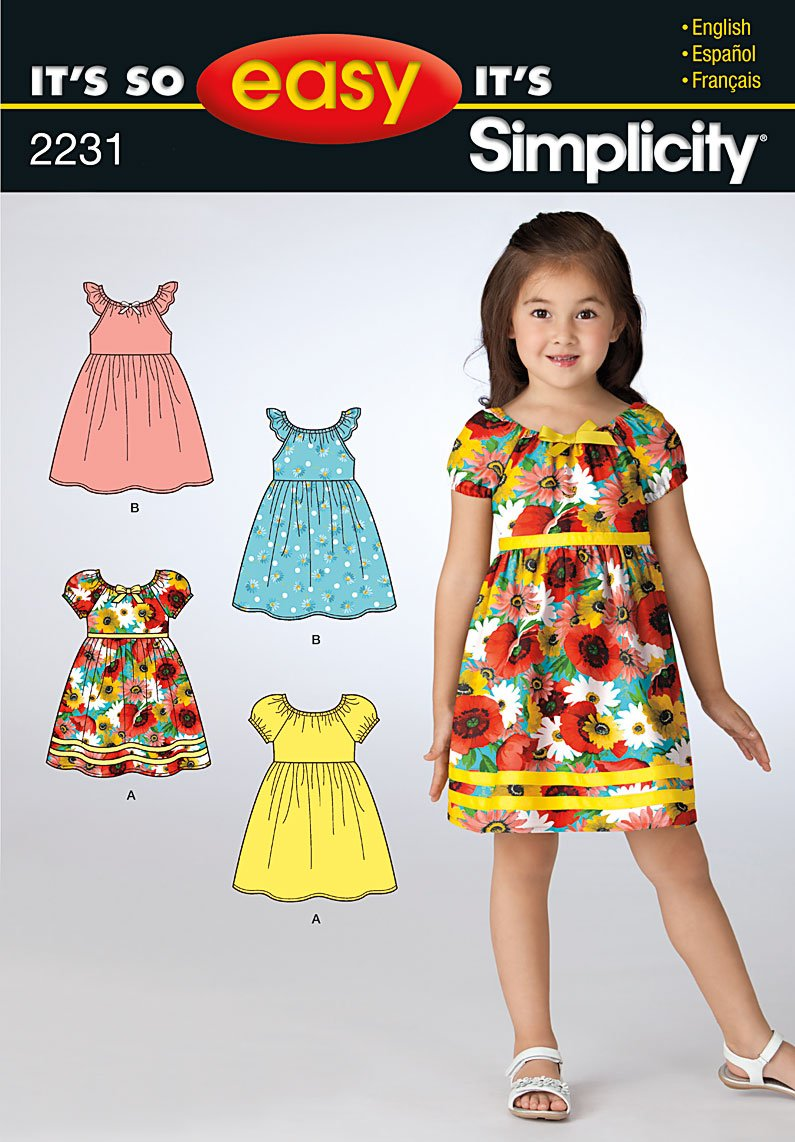 Simplicity It's So Easy Child's Dresses 2231