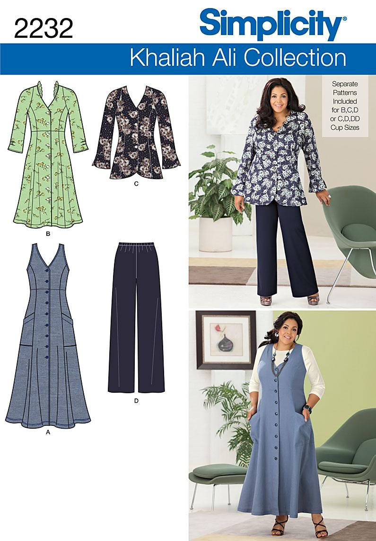 Simplicity Misses' & Plus Size Sportswear 2232
