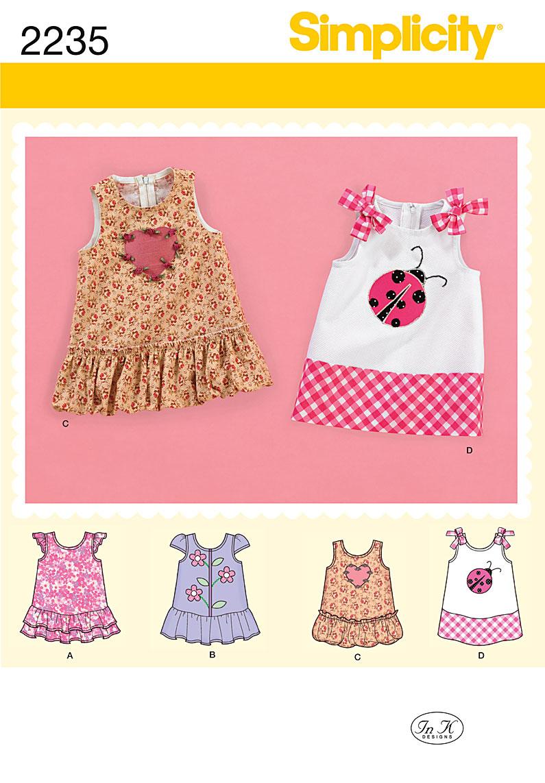 Simplicity Babies' Dresses 2235