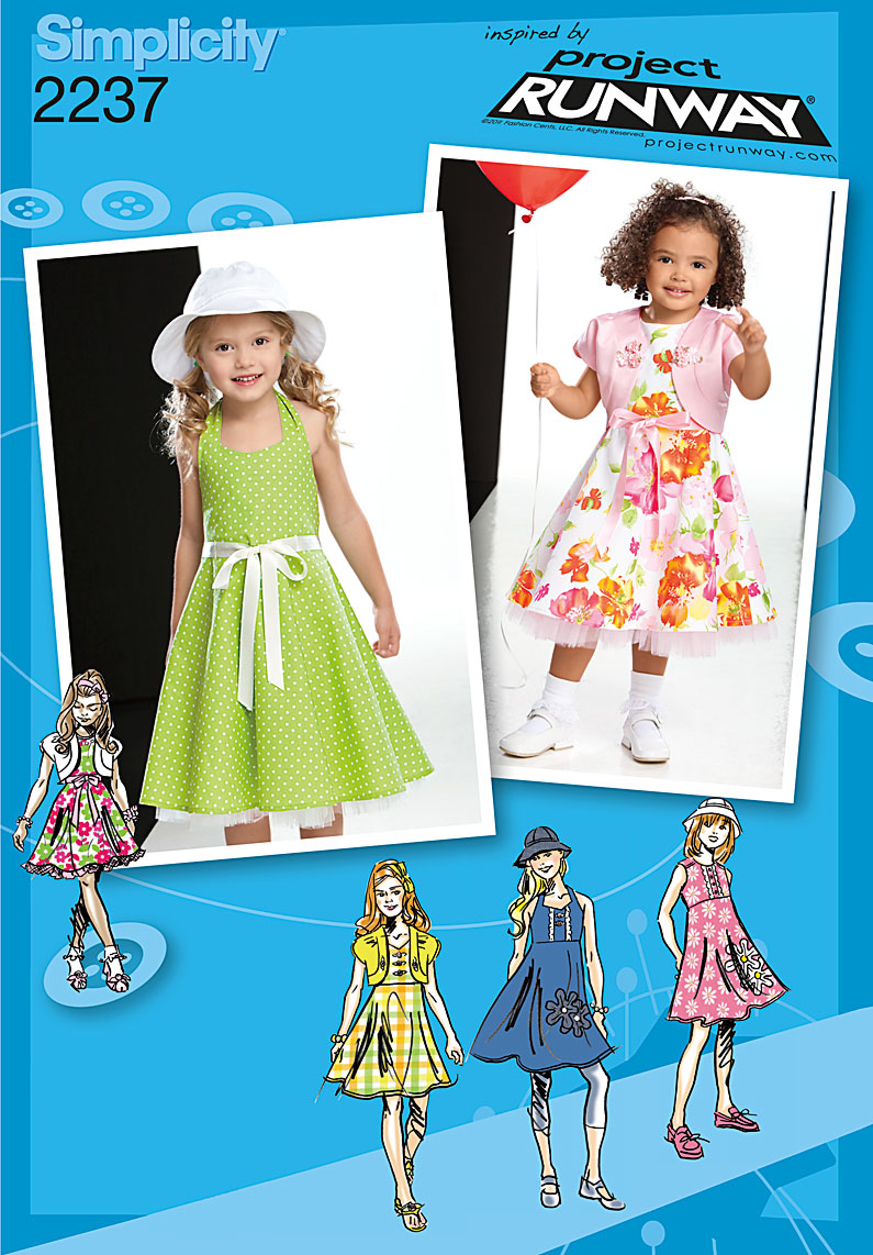 Simplicity Child's & Toddlers' Dresses. Project Runway 2237