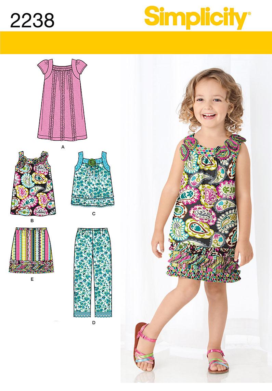 Simplicity Child's Sportswear 2238