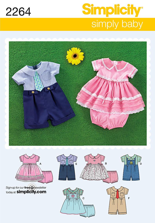 Simplicity babies' romper,dress and panties  2264
