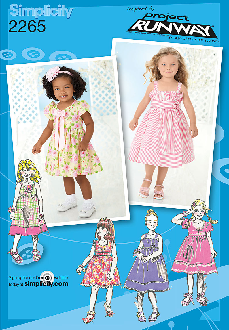 Simplicity Toddlers' & Child's Dresses. Project Runway Collection