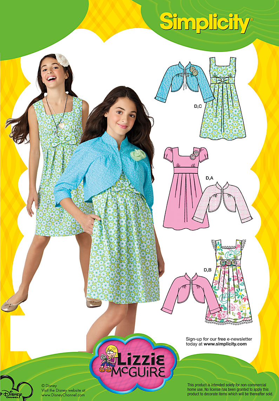 Simplicity girls dress and jacket  2266
