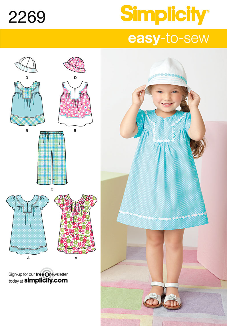 Simplicity Child's Easy to Sew Dresses