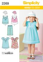 Simplicity 2269 Pattern( Size 3-4-5-6-7-8 )
