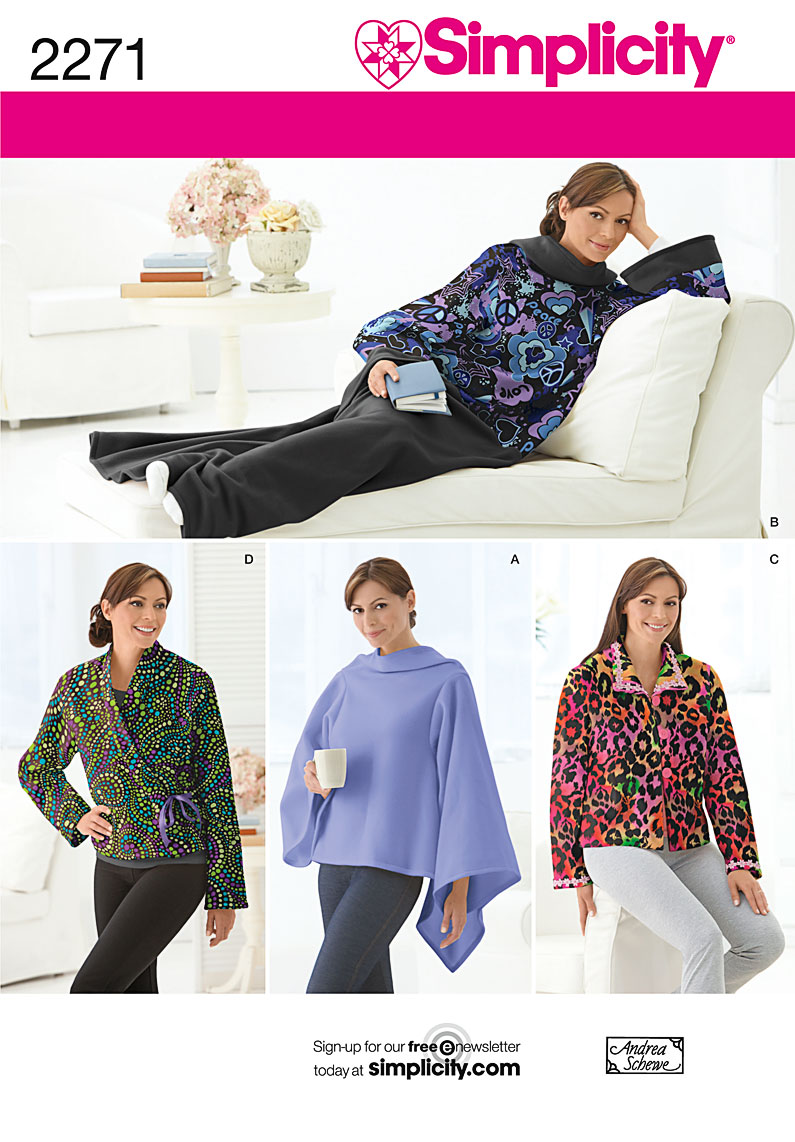 Simplicity lounge blanket and bed jacket