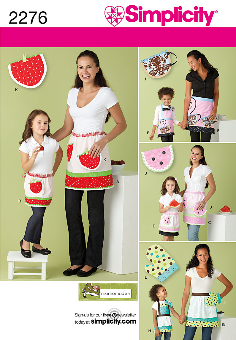 Simplicity misses and child apron and potholder