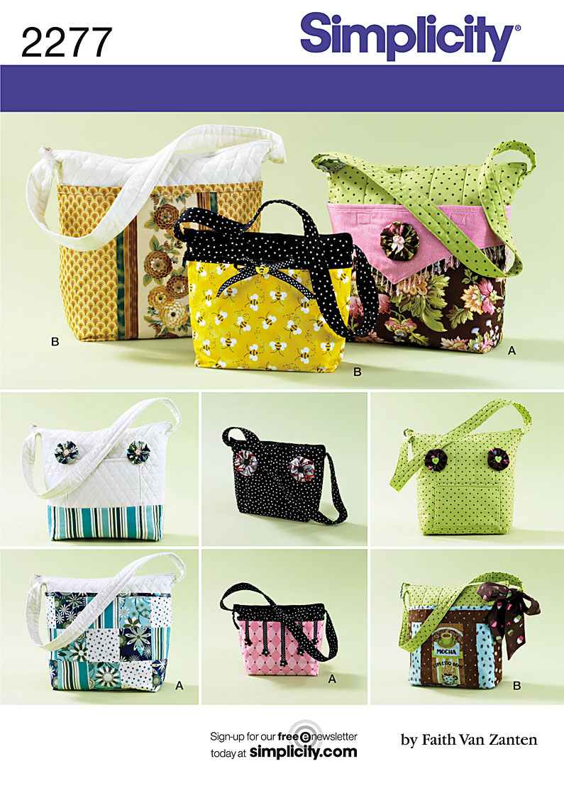 Patterns For Purses And Bags : Details about SIMPLICITY HANDBAG PURSE SHOULDER BAG SEWING PATTERN