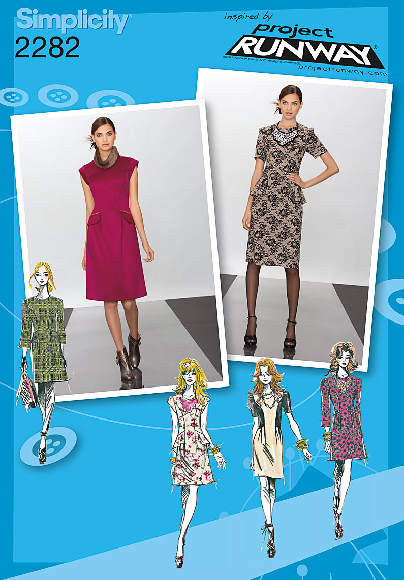 Simplicity Misses' Dress, Project Runway Collection 2282