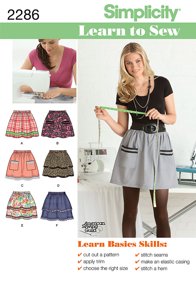 Simplicity Misses' Skirts 2286