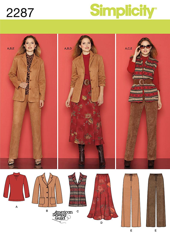 Simplicity Misses' & Women's Sportswear 2287