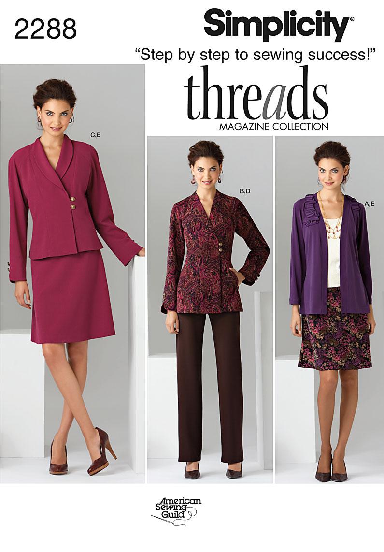 Simplicity Misses' & Women's Sportswear 2288