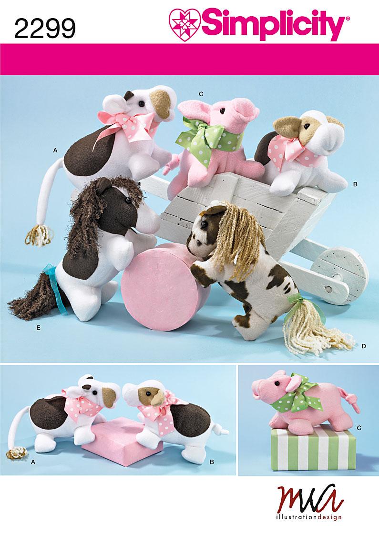 Simplicity Stuffed Animals 2299