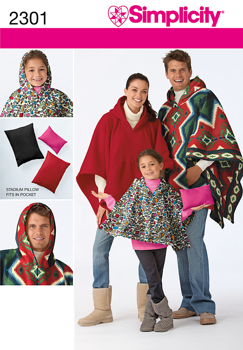 Simplicity Poncho & Pillow 2301