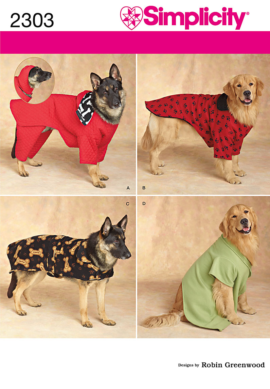 Simplicity Dog Clothes 2303