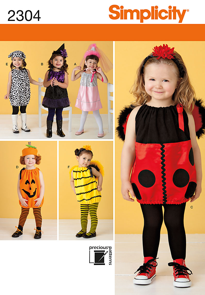 Simplicity Toddlers' Costumes 2304