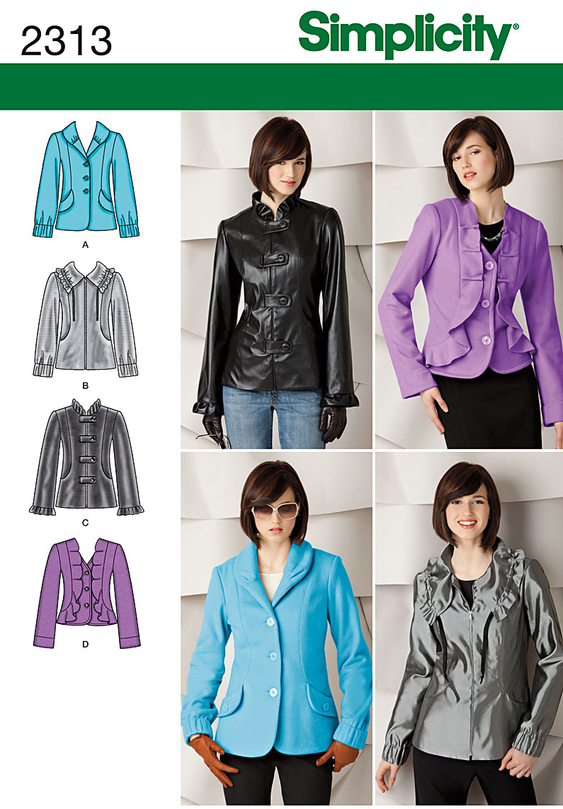 Simplicity Misses' Jackets 2313