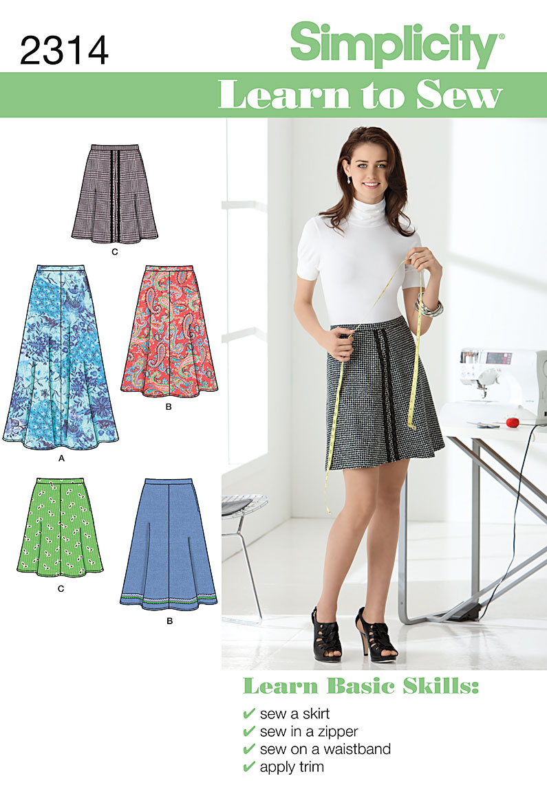 Simplicity Misses' Skirts 2314